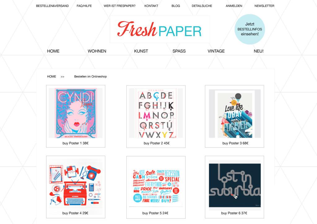 Online-Shop Freshpaper